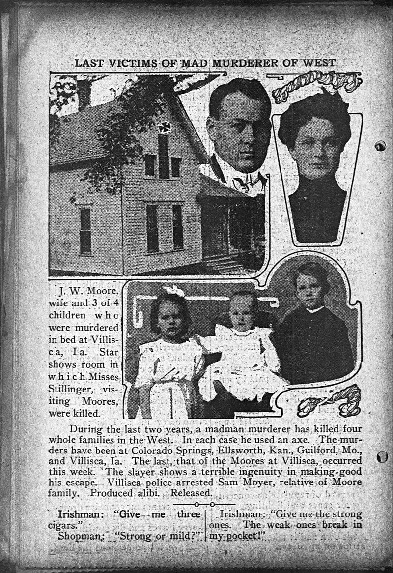 Villisca Ax Murders Newspaper clip