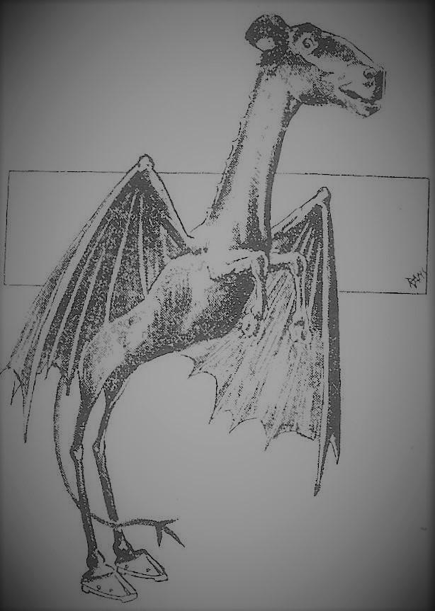The Jersey Devil - an Illustration (Public Domain)